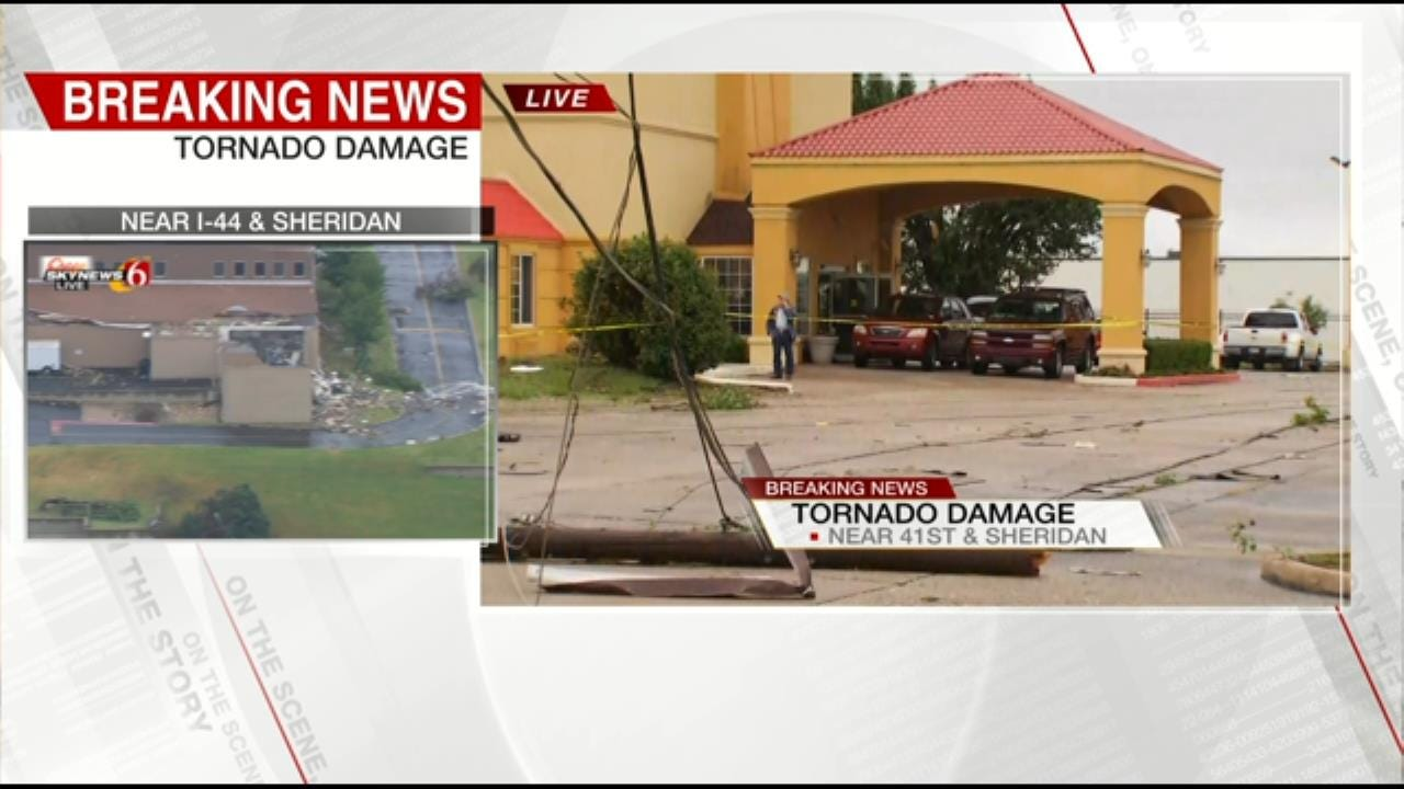 La Quinta Inn Suffers Roof Damage After Hard Hitting Storms