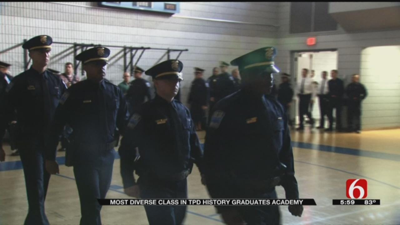 Tulsa Police Graduates 'Diverse' Class Of New Officers