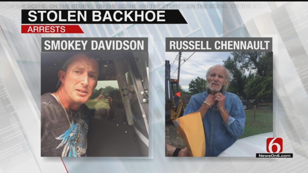 Deputies: Stolen Backhoe Ride Leads To 3 Arrests In Turley