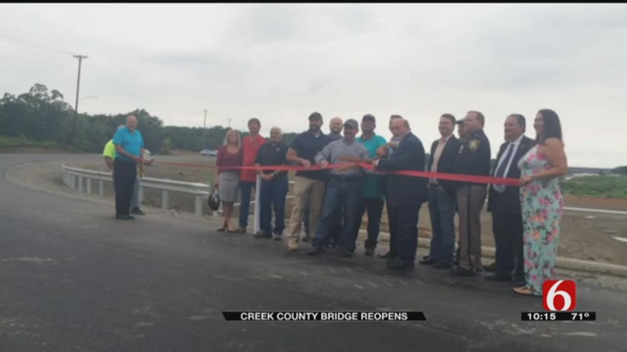 Creek County Bridge Reopens After Nearly A Year
