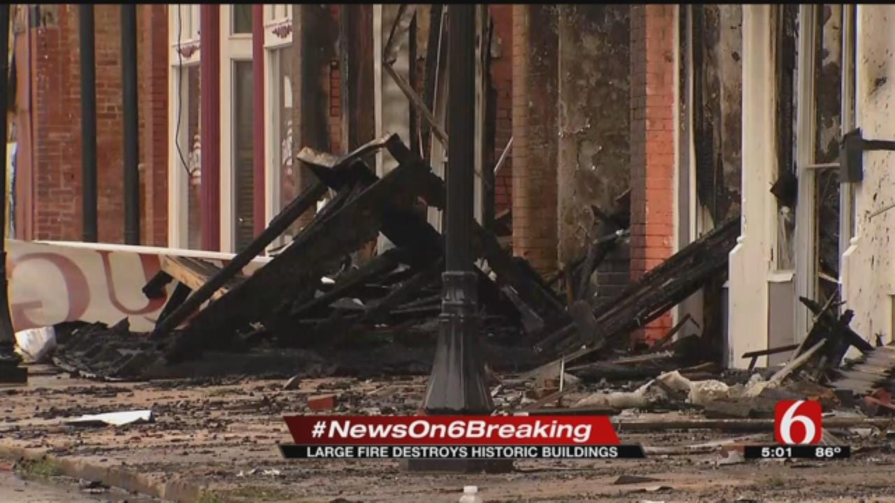 Community Distraught After Downtown Wagoner Fire