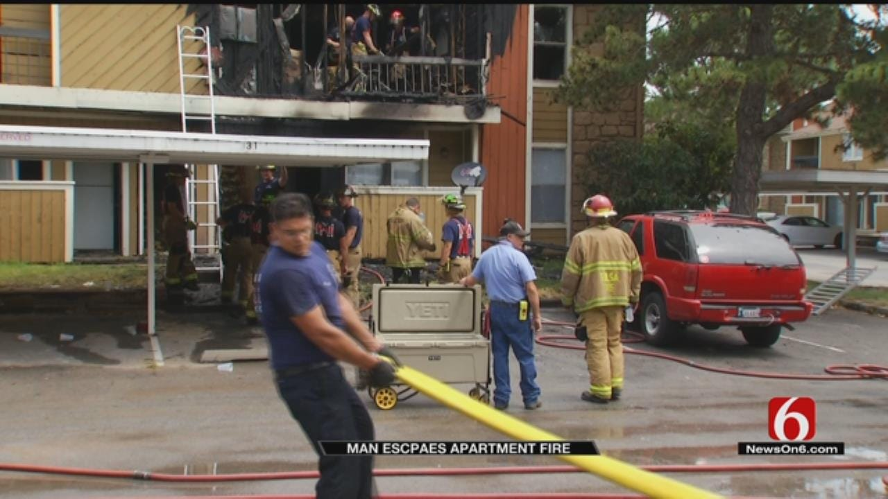 Tulsa Man Happy To Be Alive After Apartment Fire