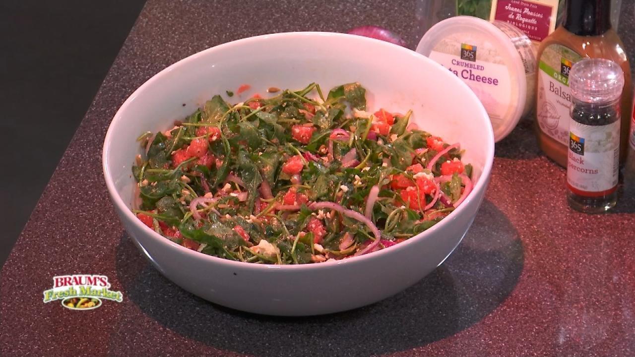 Watermelon & Arugula Salad