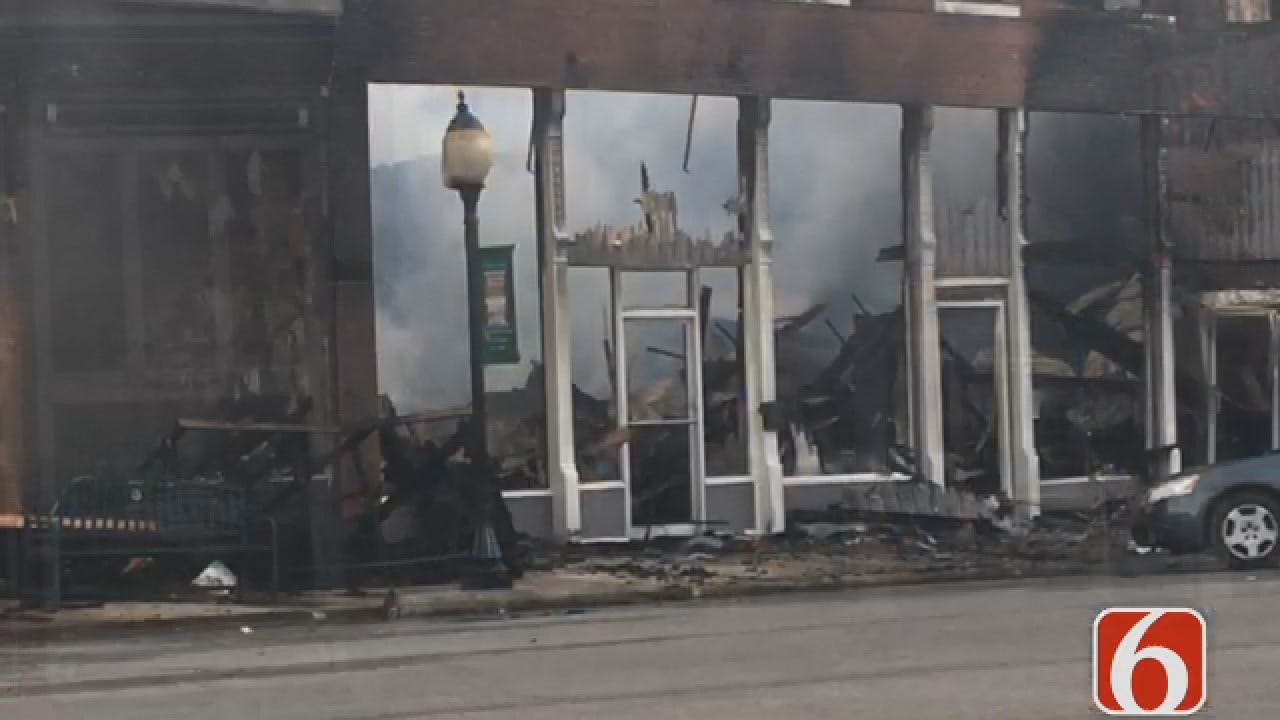 Joseph Holloway Reports On Downtown Wagoner Fire