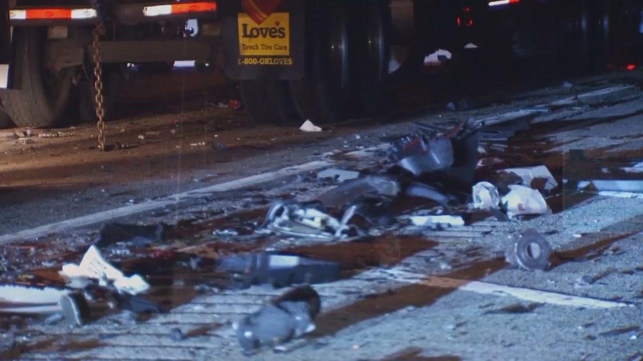 WEB EXTRA: Video From Scene Of Will Rogers Turnpike Crash Near Vinita