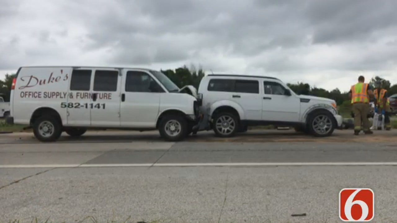Emory Bryan: One Treated In 3-Vehicle Wreck On Tulsa Highway