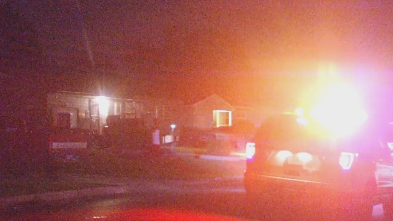 WEB EXTRA: Video From Scene Of Tulsa Home Damaged By Gunfire