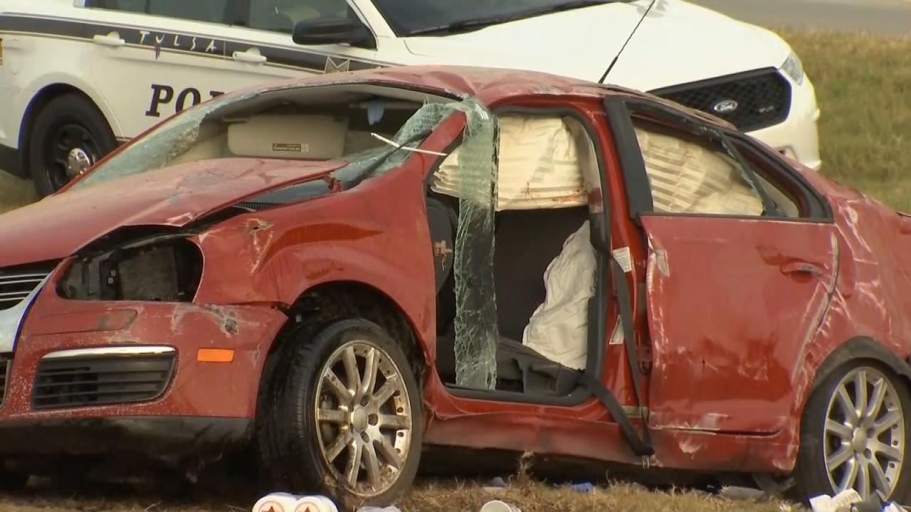 WEB EXTRA: Video From Scene Of Tulsa Fatal Crash