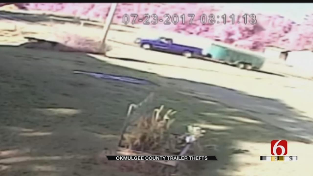 Surveillance Video Show Recent Okmulgee County Trailer Thefts