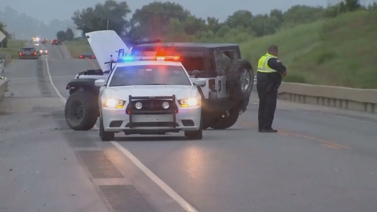 WEB EXTRA: Video From Scenes Of Officer-Involved Shooting In Creek County