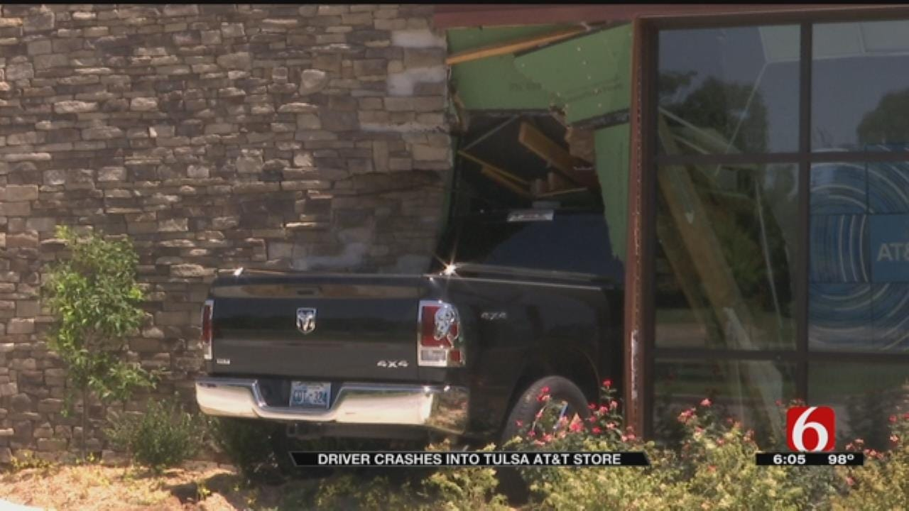 Driver Crashes Into New Tulsa AT&T Store