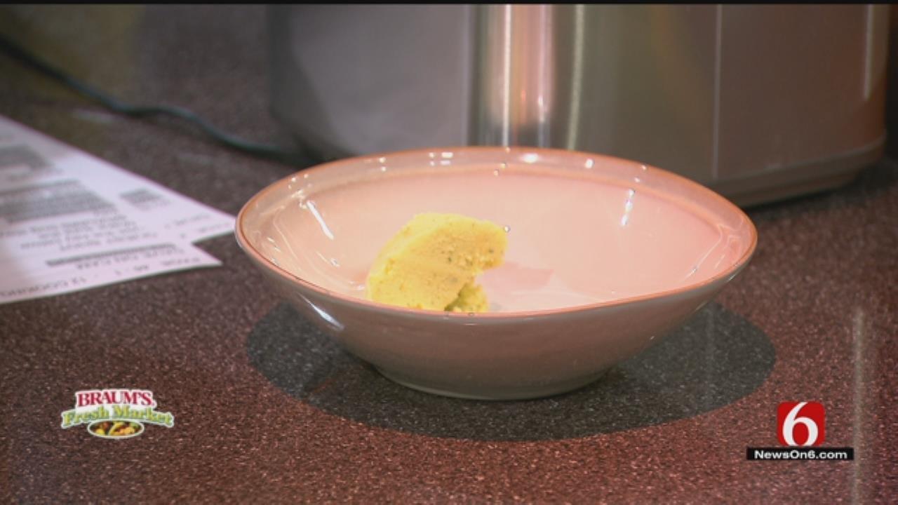 Cucumber Mint Frozen Yogurt