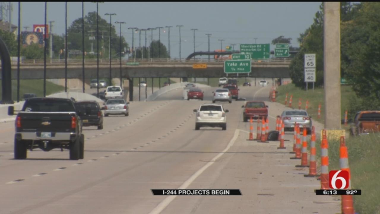 Drivers Should Expect Backups As Bridge Work Begins On Tulsa's I-244