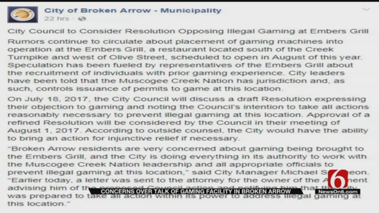 BA City Councilors To Vote On Resolution Opposing New Grill's Possible Gaming Facility