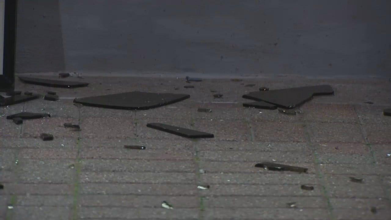 WEB EXTRA: Video Of Downtown Tulsa Vandalism