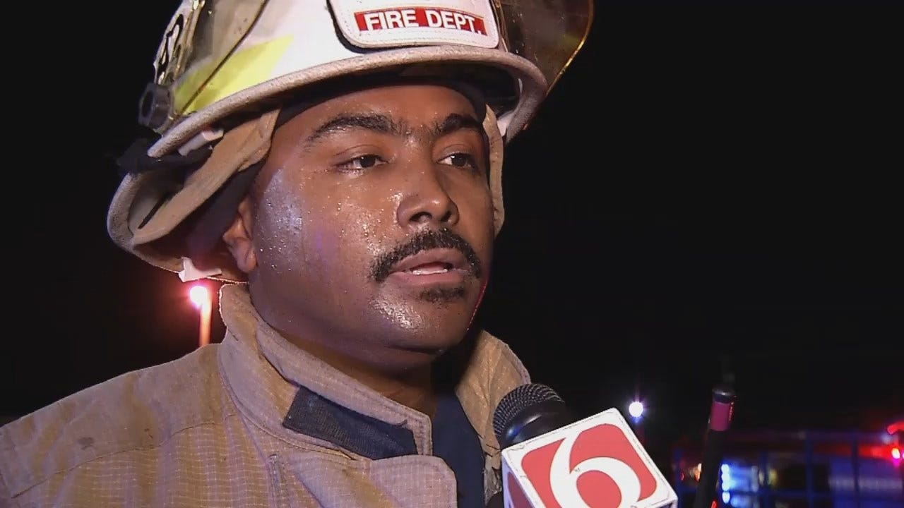 WEB EXTRA: Tulsa Fire District Chief Jeareld Edwards Talks About The Fire