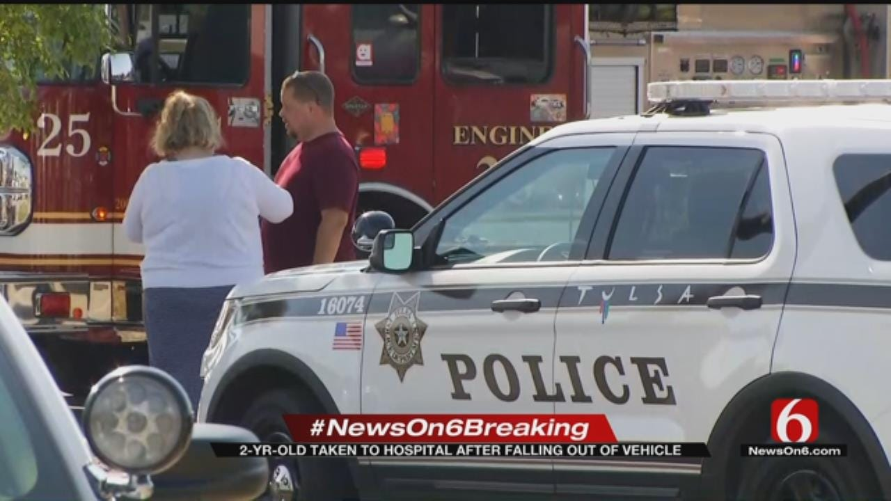 Tulsa Police Investigating After Toddler Falls Out Of Moving Vehicle