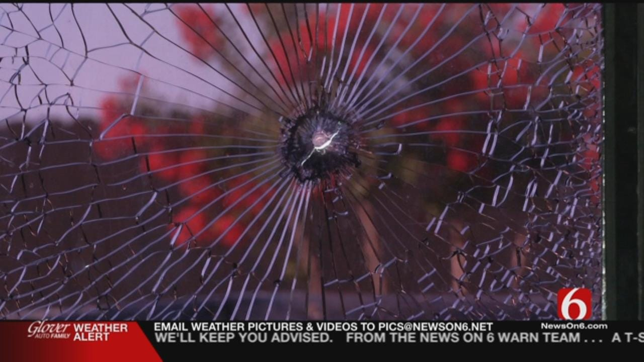 Angry Driver Shoots Out Truck's Window On Tulsa Highway