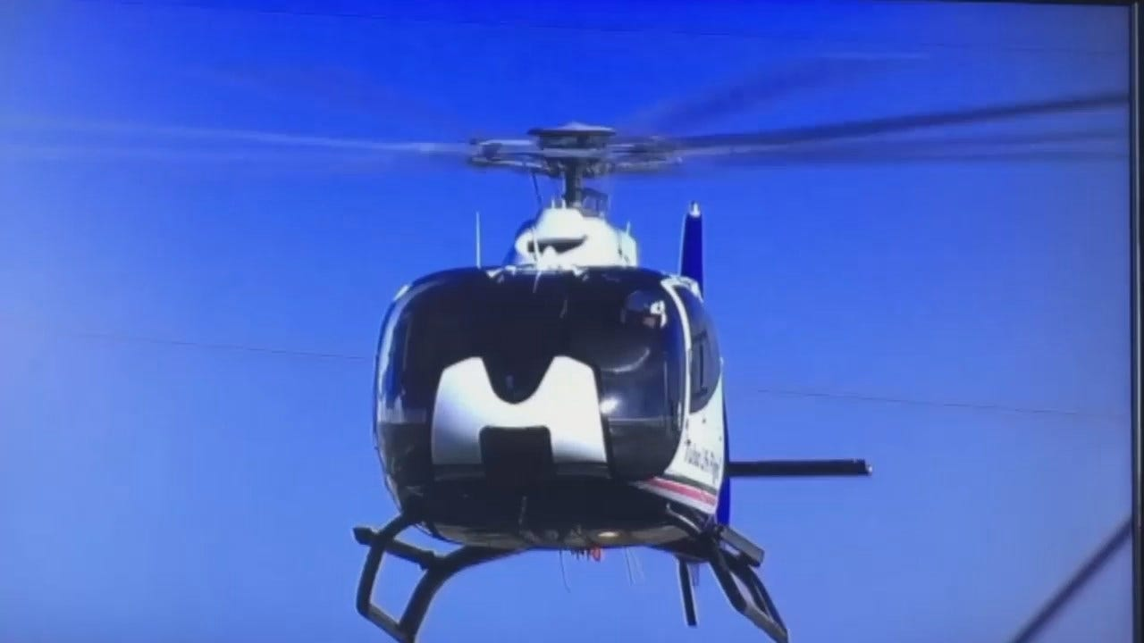 WEB EXTRA: Life Flight Landing At ONEOK Field