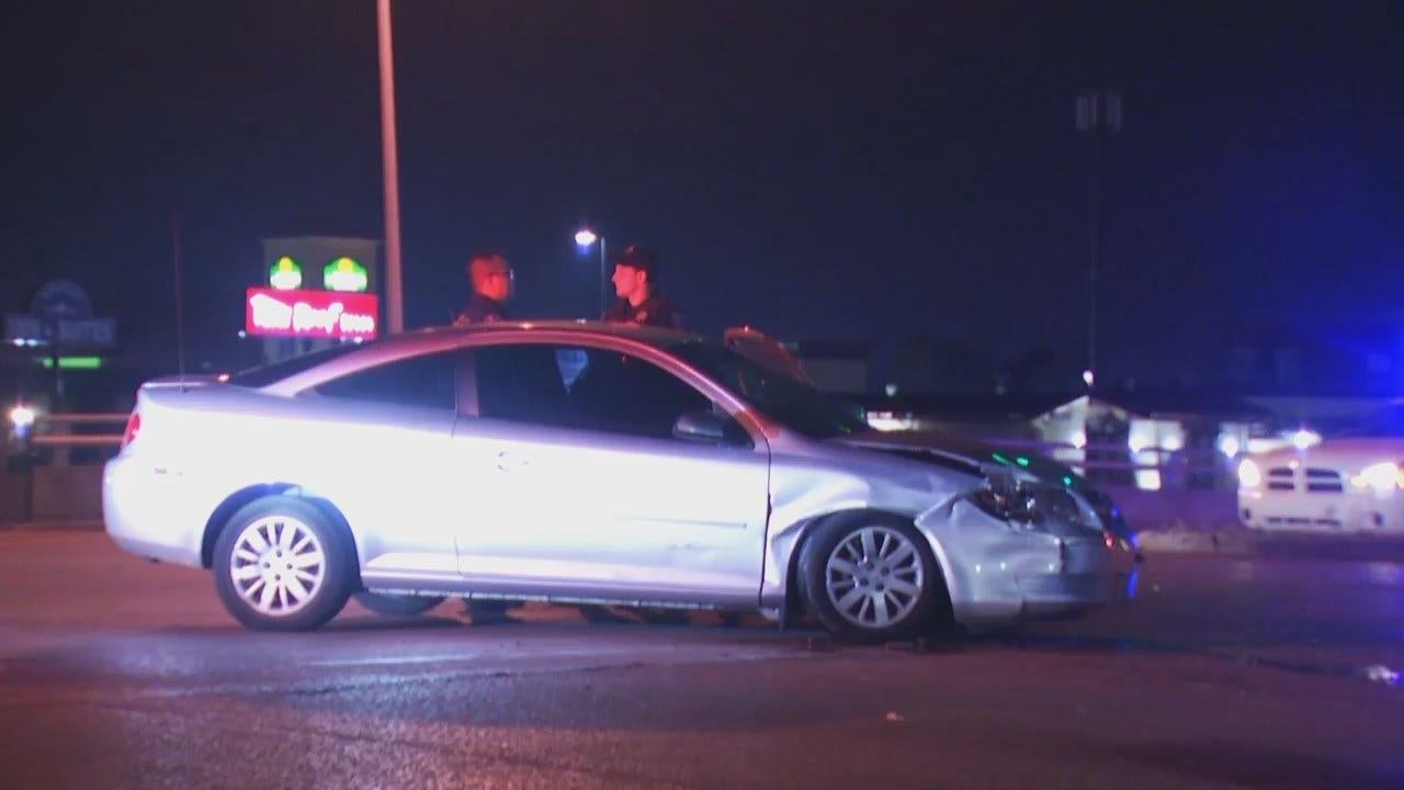 WEB EXTRA: Video From Scene Of Tulsa Hit And Run Crash