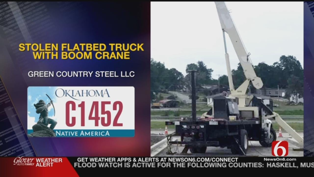 Sand Springs Police Ask For Help Finding Stolen Crane