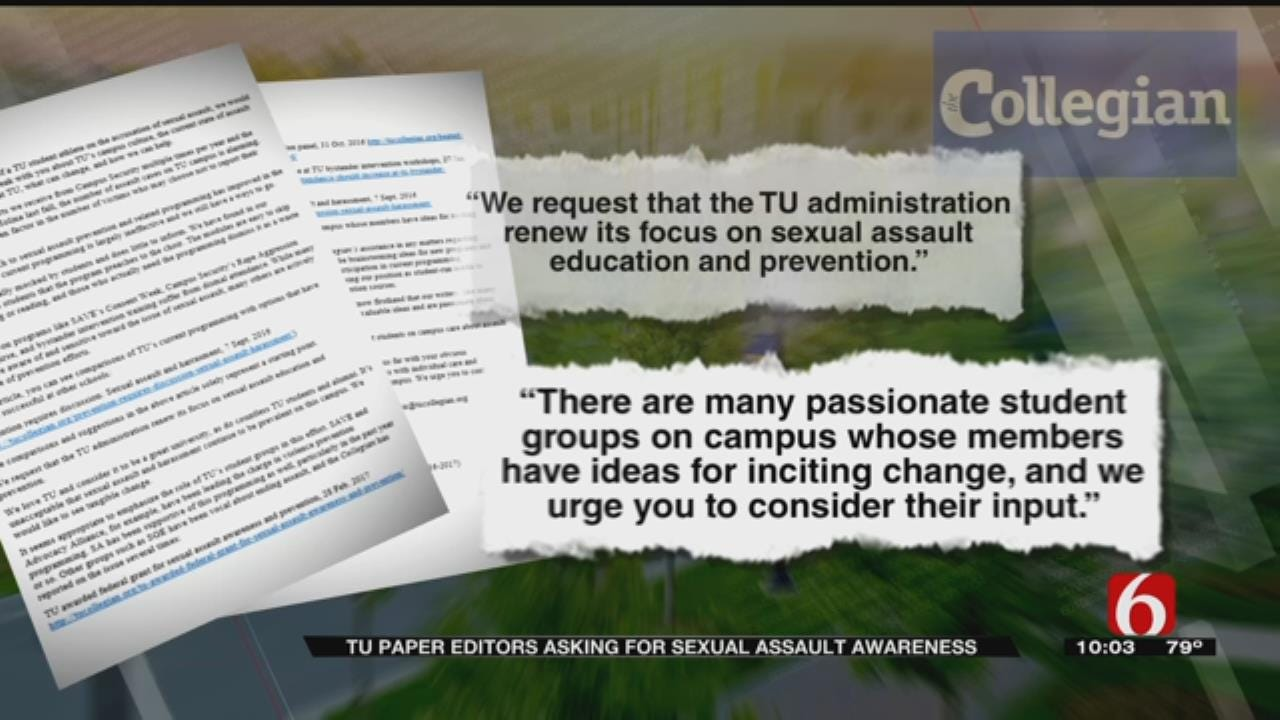 TU Students Call For Better Sex Education In Open Letter To School President