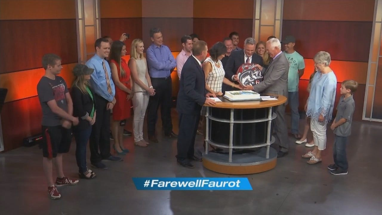 Gone Fishin: Family, Friends Greet Dick Faurot After His Final Forecast