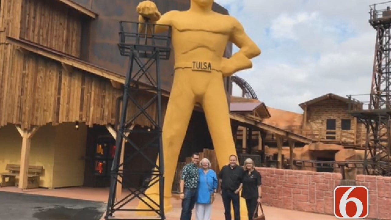 Emory Bryan Says The French Version Of Tulsa's Golden Driller Dedicated