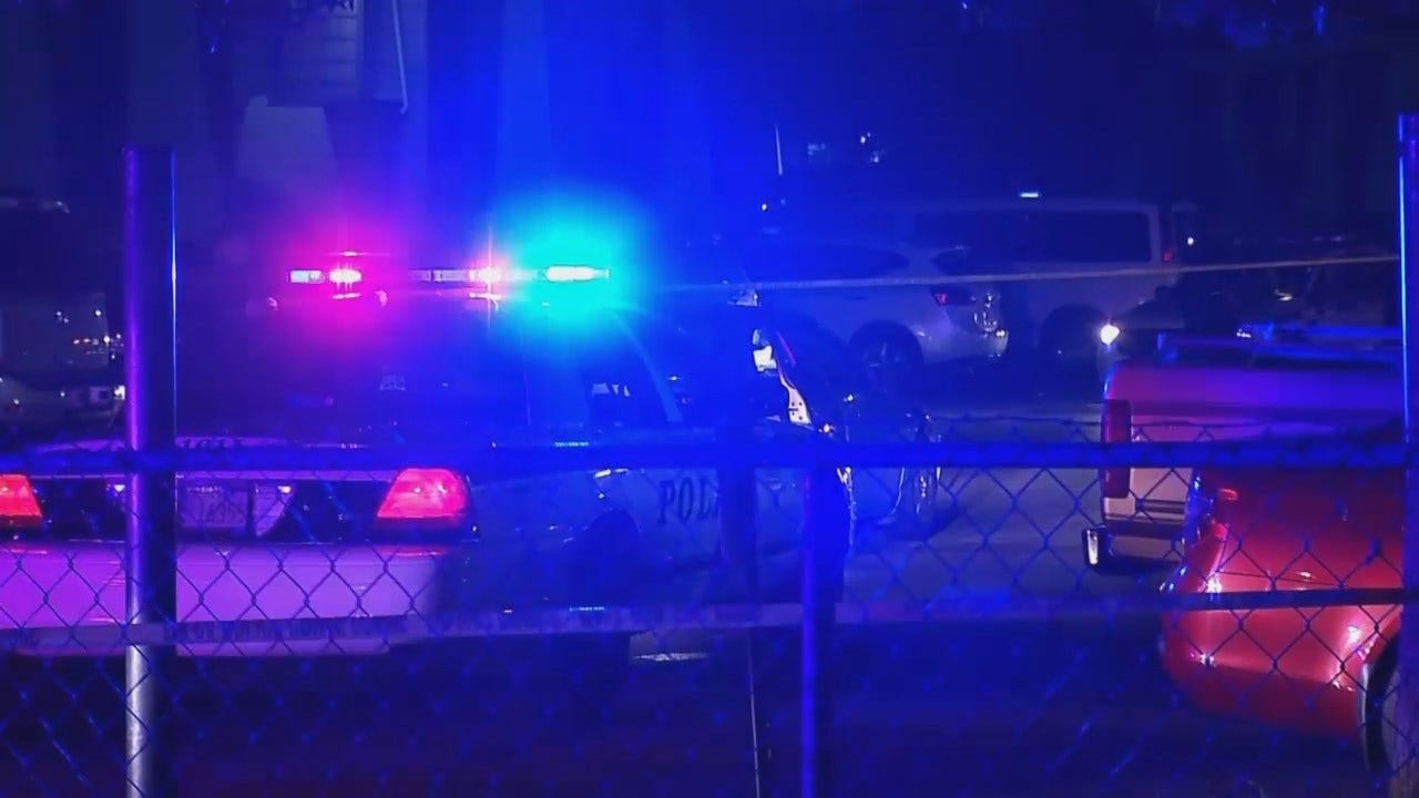 WEB EXTRA: Video From Scene Of Fatal Shooting Outside Tulsa Apartment Complex