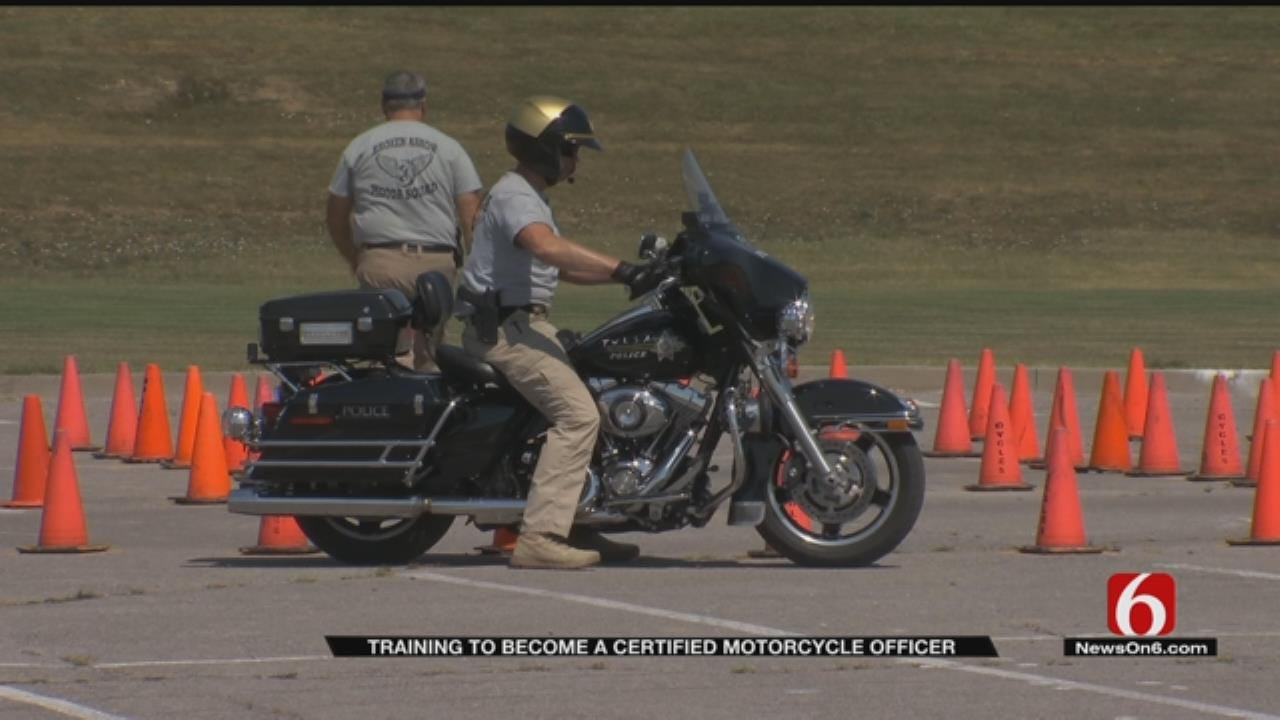 Tulsa Officers Train To Become Motorcycle Certified