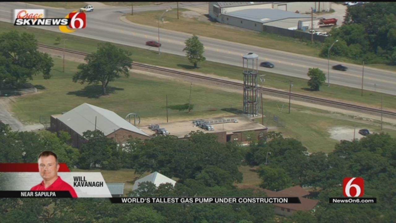 Osage SkyNews 6 HD Flys Over World's Tallest Gas Pump