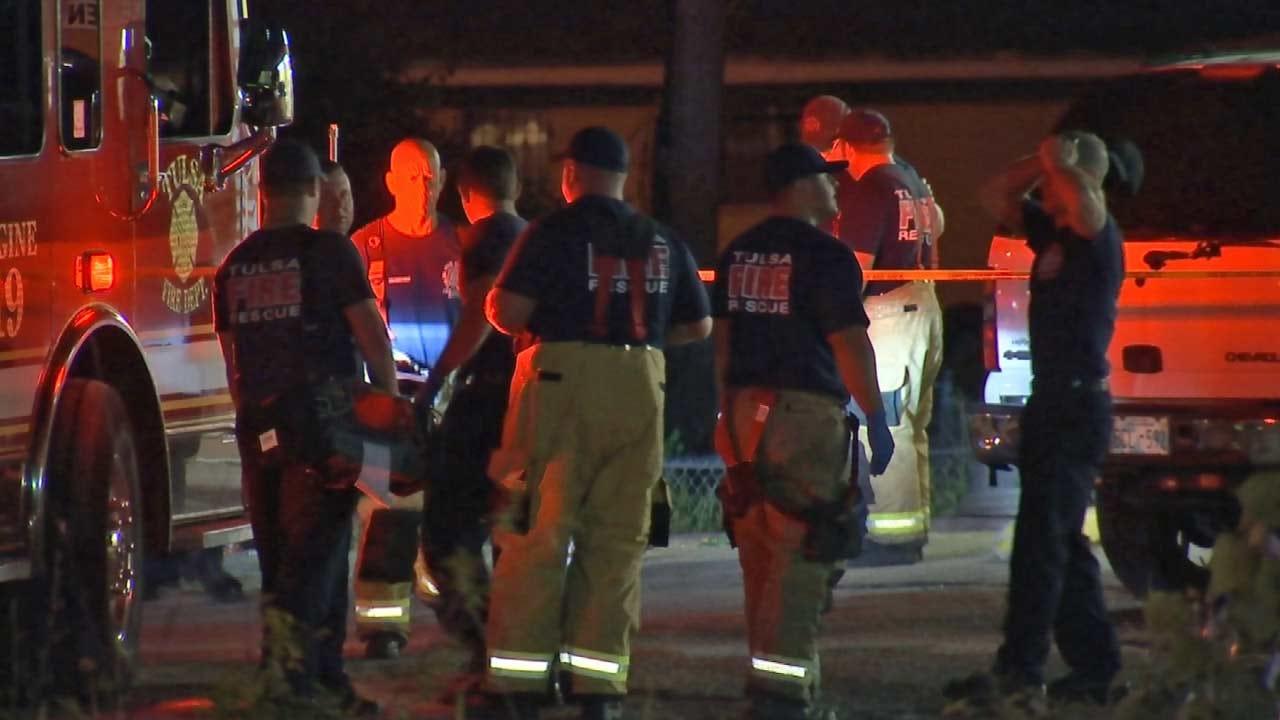 Tulsa Firefighters Rush To Help Shooting Victim