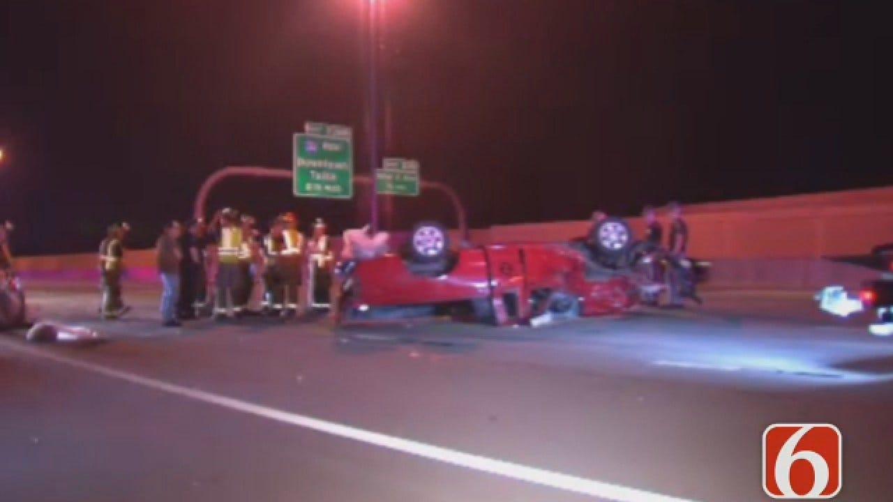 Dave Davis Reports On Multiple Vehicle Crash On I-44 In East Tulsa