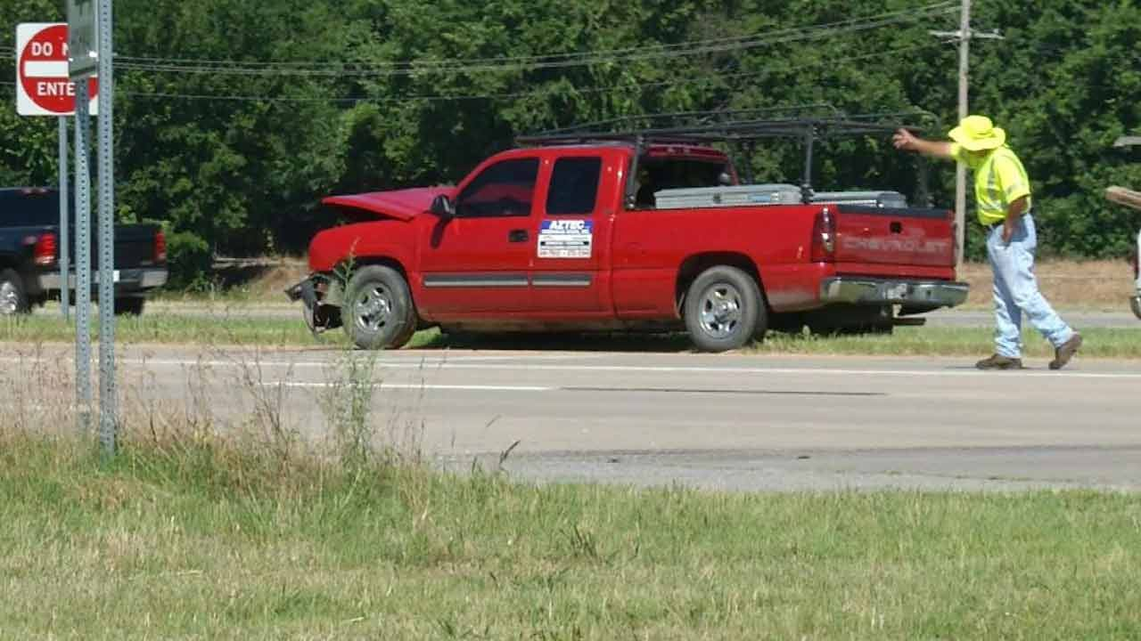 WEB EXTRA: Two Injured In Rogers County Wreck