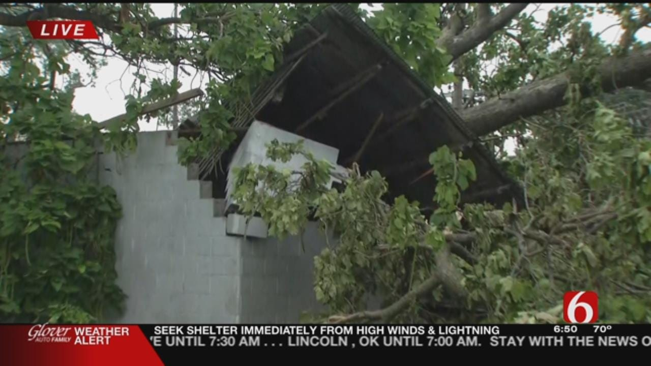 Eastern Oklahomans Cleaning Up After Severe Storms