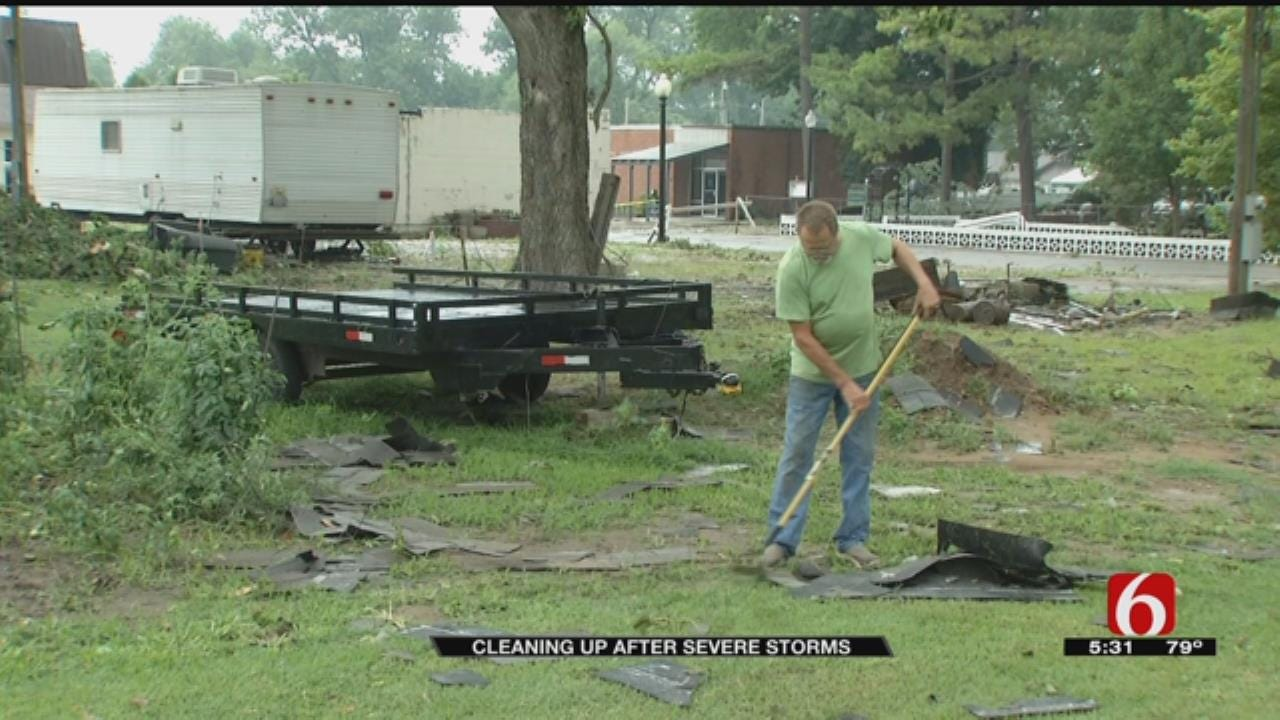 Webbers Falls, Gore Residents Cleaning Up Storm Damage