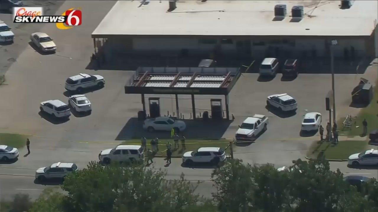 Osage SkyNews 6 HD Flys Over Tulsa Shooting Scene