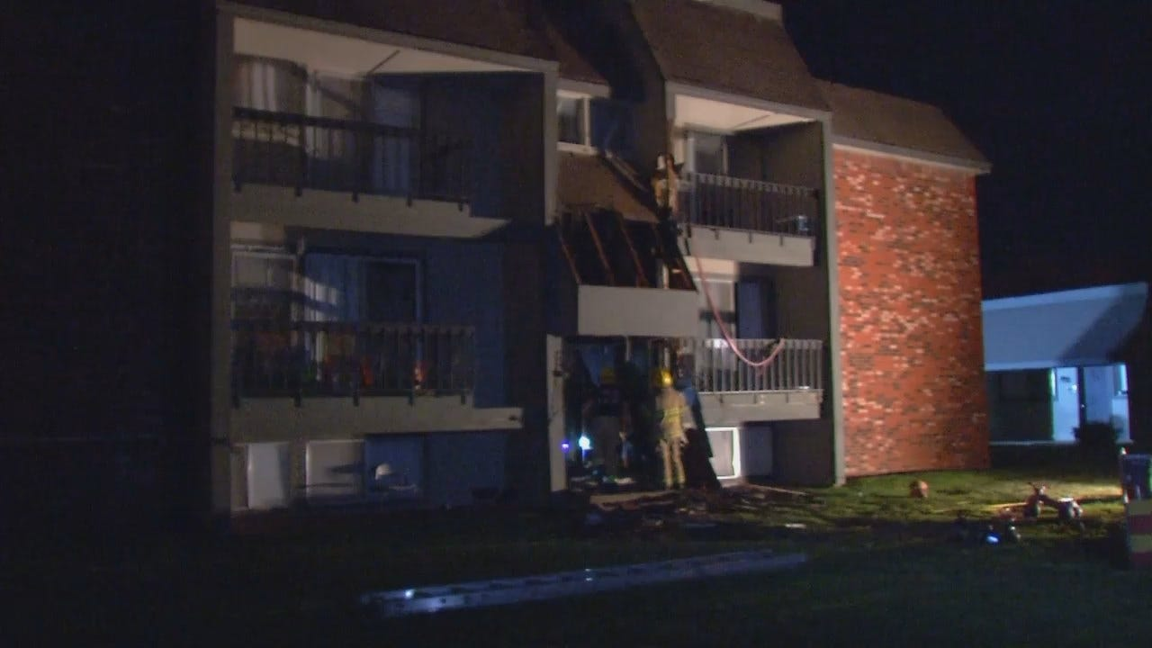 WEB EXTRA: Video From Scene Of Owasso Apartment Building Fire