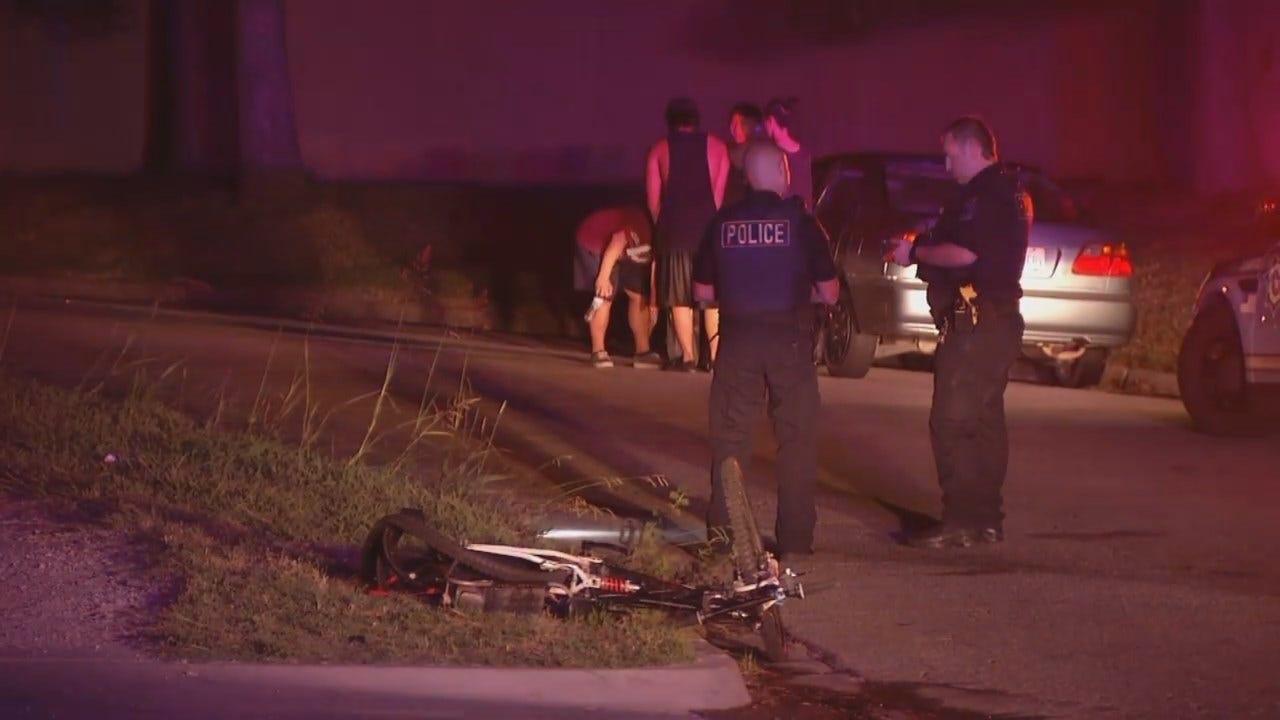 WEB EXTRA: Car Hits Cyclist In Tulsa Neighborhood