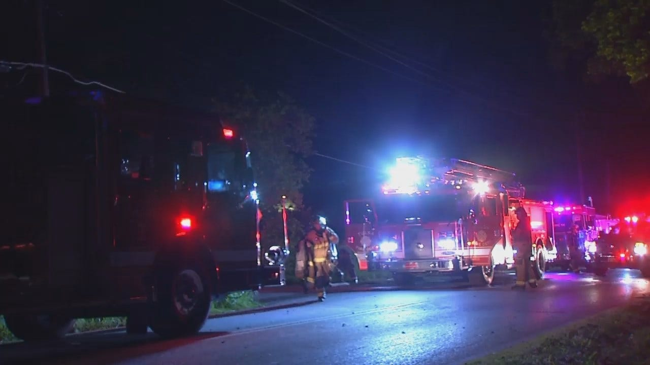 WEB EXTRA: Video From Scene Of Several Suspicious West Tulsa Fires