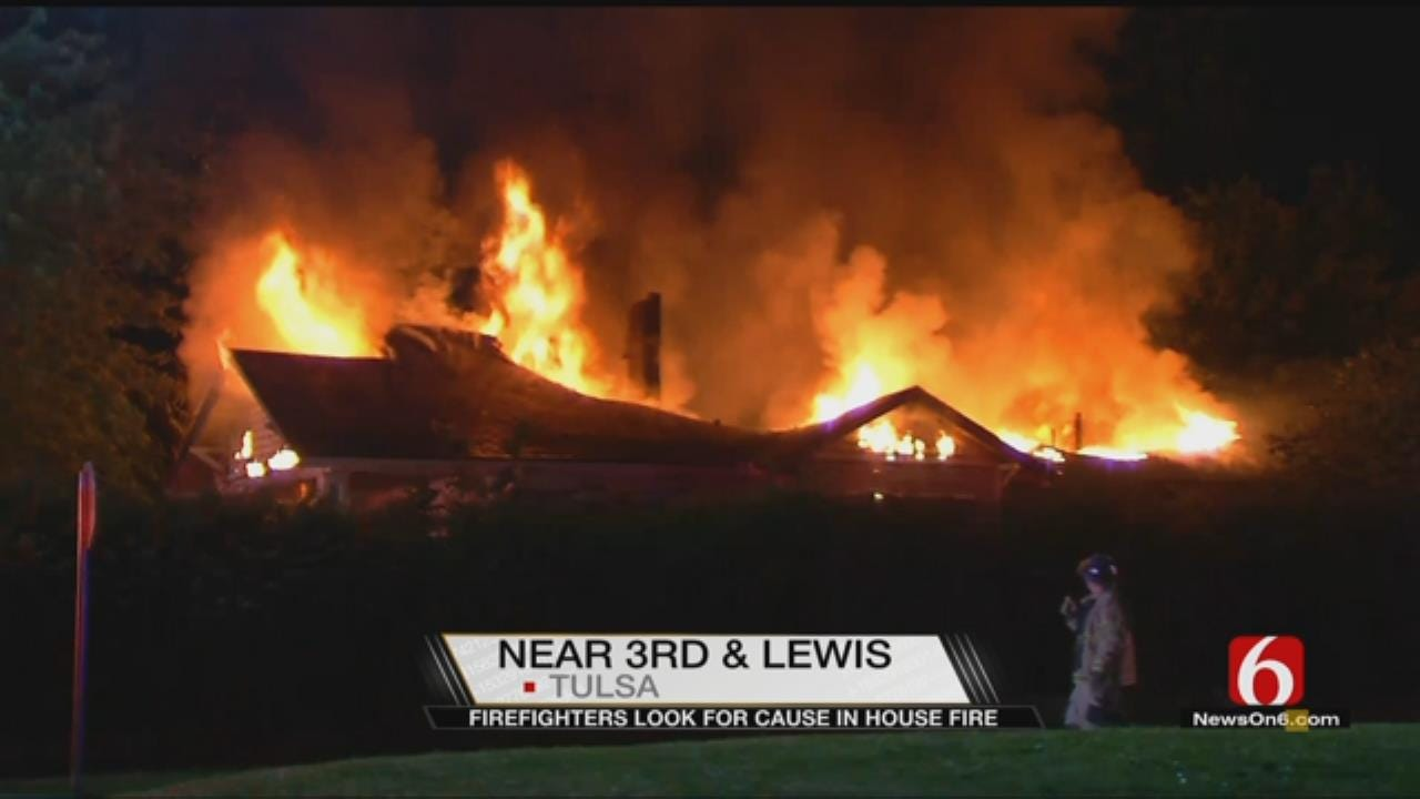Fire Destroys Tulsa Home Near 3rd And Lewis