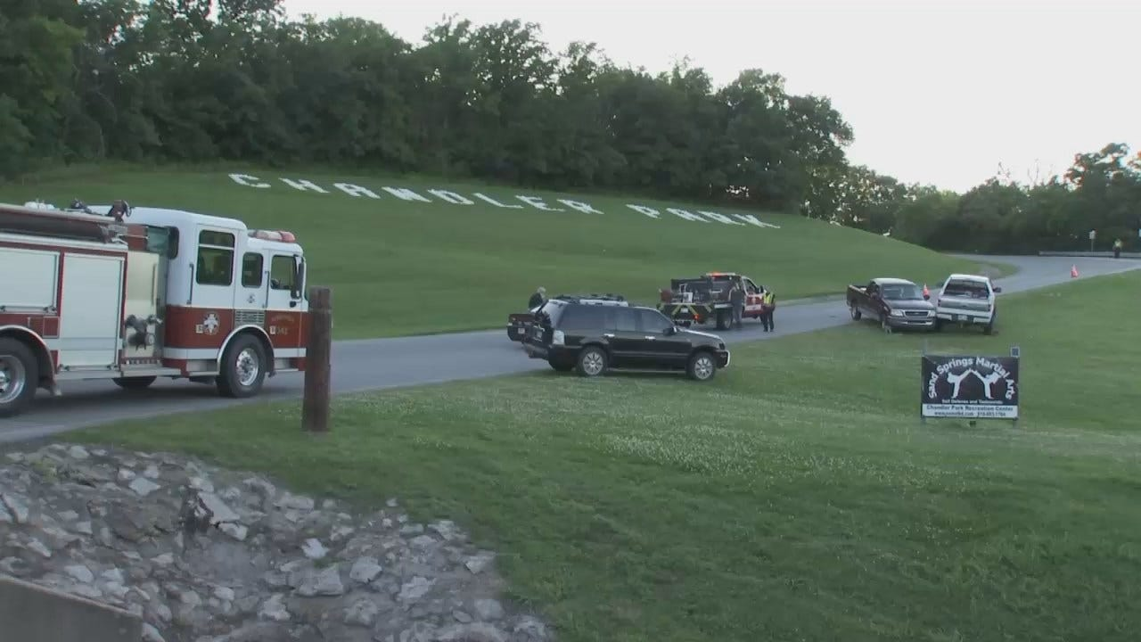 WEB EXTRA: Video From Scene Of Chandler Park Crash
