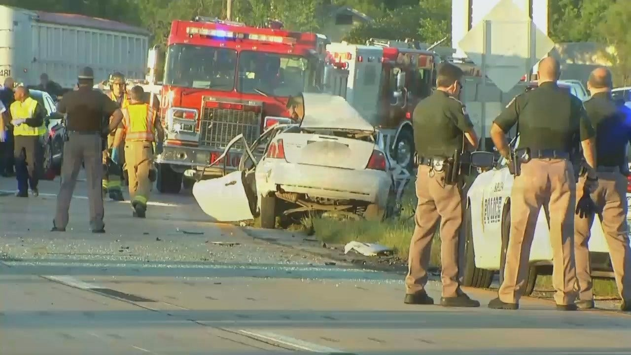 WEB EXTRA: Video From Scene Of Fatal Highway 75 Crash