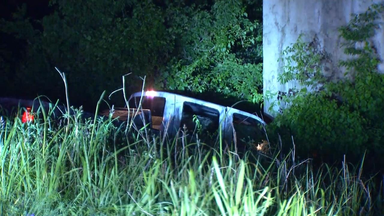 3 Injured After Truck Drops Nearly 60 Feet Off Will Rogers Turnpike
