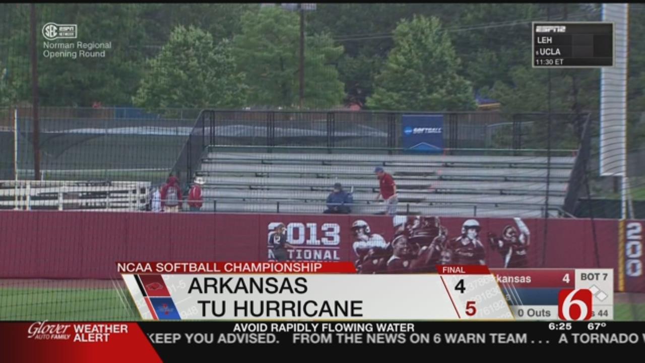 Meinen's Walk-Off Home Run Pushes TU Past Arkansas In Regional Opener