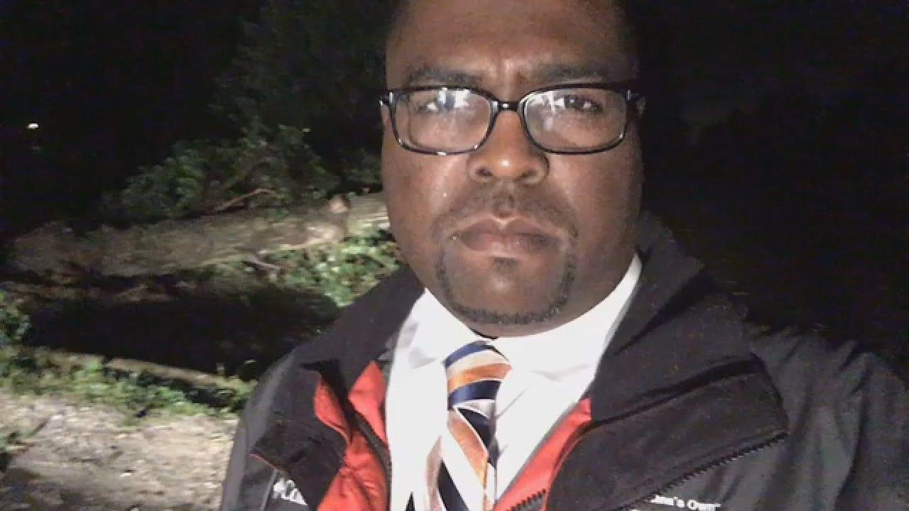 Joseph Holloway Checks Out Owasso Tornado Damage