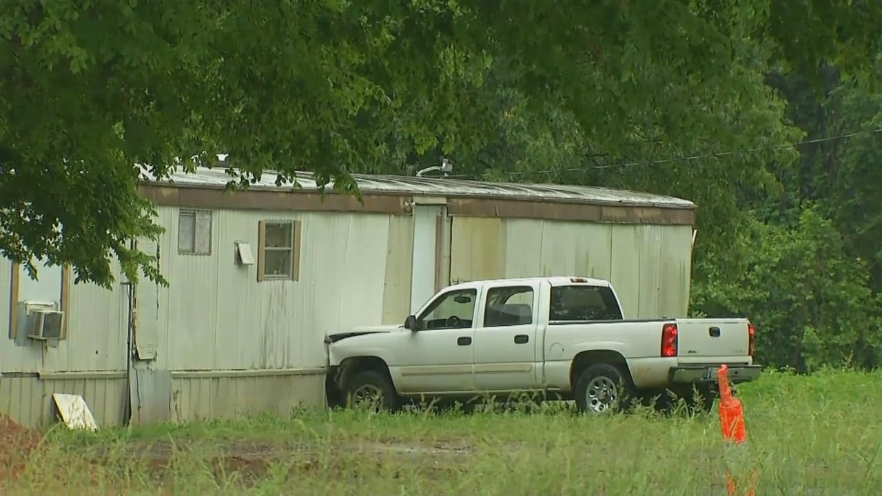 WEB EXTRA: Video From Scene Of Pickup After It Crashed Into Wagoner County Home