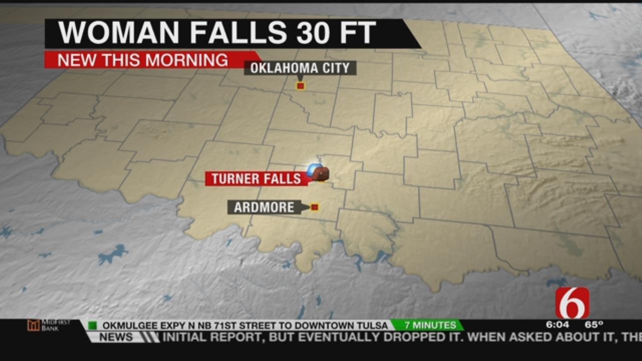 Woman Survives 30-Foot Fall At Turner Falls