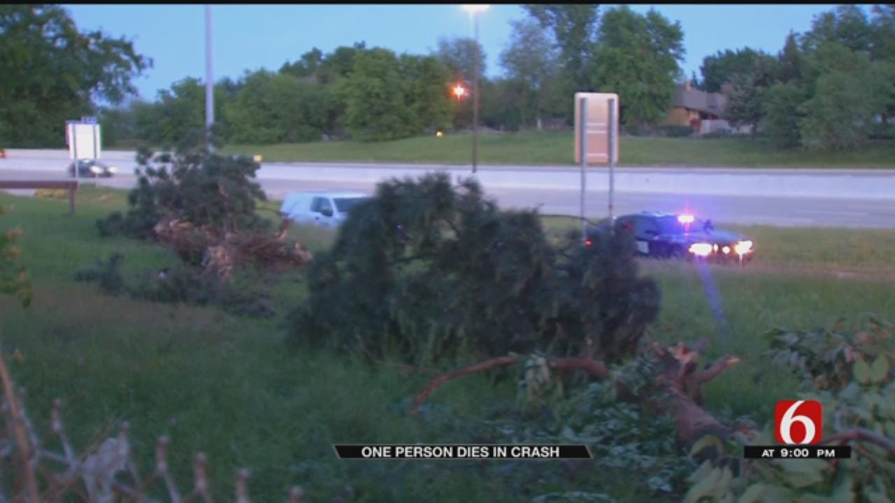 Driver Killed When Truck Crashes Through Trees In Tulsa
