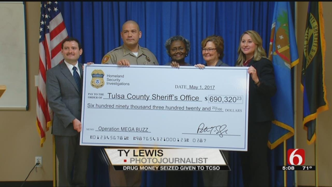 Money Seized From Drug Bust Helping Tulsa County Sheriff's Office